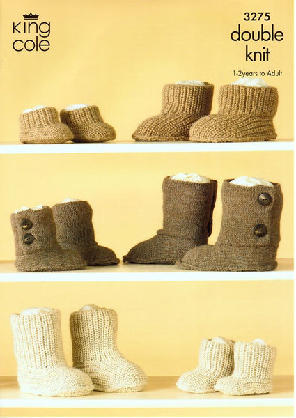 Hug Slippers in King Cole Baby Alpaca DK (3275)-Deramores