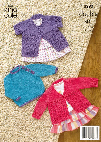 Cardigan and Sweater in King Cole Bamboo Cotton DK (3290)-Deramores