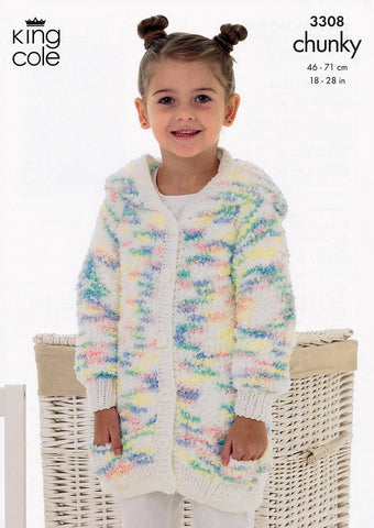 Cardigan & Sweater in King Cole Cuddles Chunky (3308)-Deramores