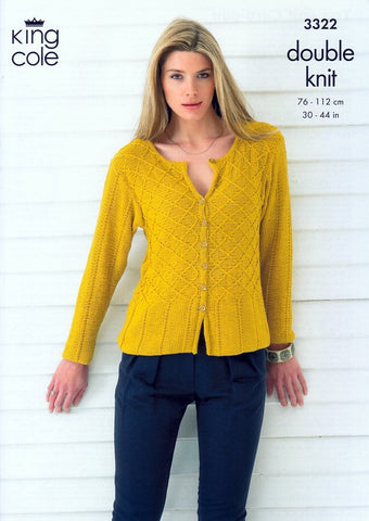 Top and Cardigan in King Cole Bamboo Cotton DK (3322)