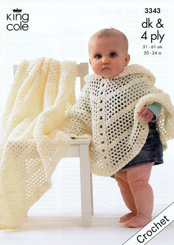 Poncho knitting patterns buy poncho patterns deramores crochet poncho shawl in king cole dk and king cole 4 ply 3343 dt1010fo