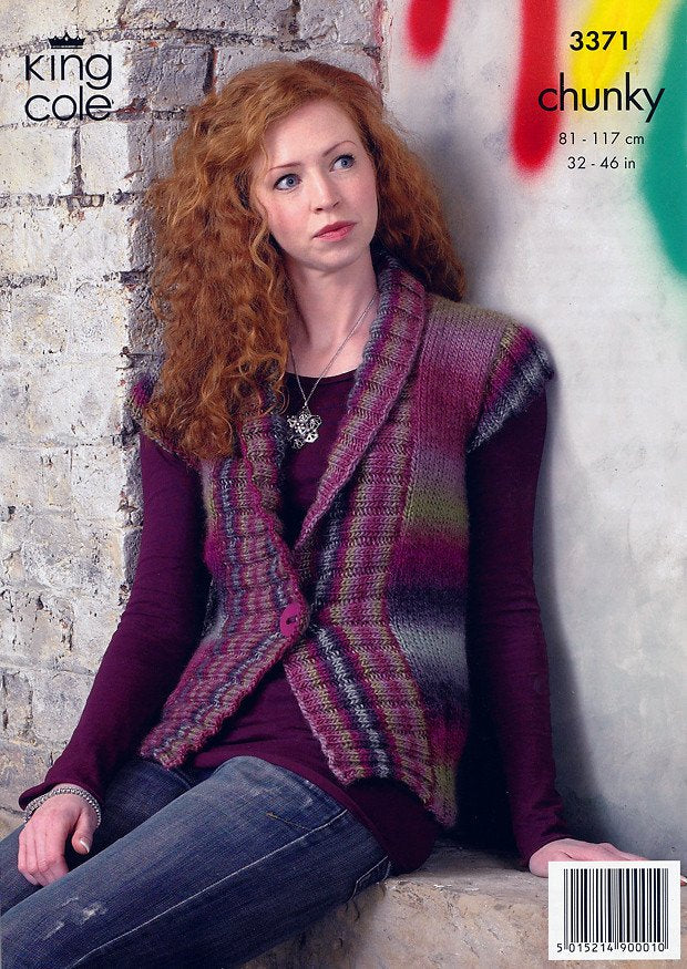 Jacket And Gilet In King Cole Riot Chunky 3371 Deramores