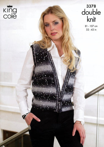 Cardigan and Waistcoat in King Cole Galaxy DK (3378)-Deramores