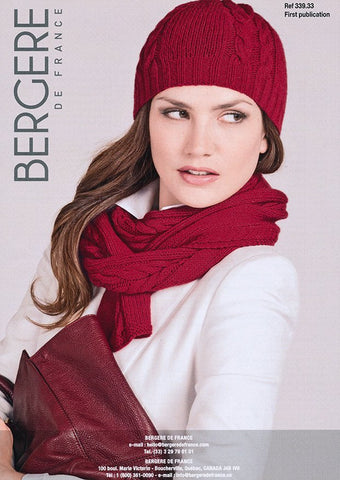 Hat and Scarf in Bergere de France Cachemire (339.33)-Deramores