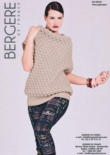 Short Sleeved Sweater in Bergere de France Pur Merinos Francais (339.49)