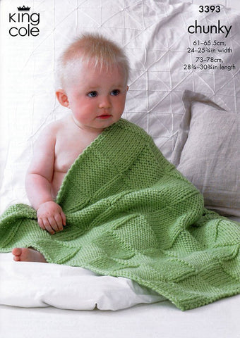 Babies Blankets in King Cole Comfort Chunky (3393)-Deramores