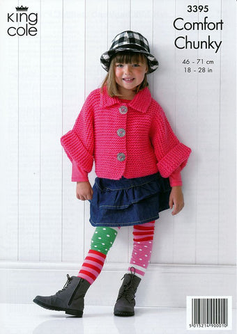 Children's Jacket, Hat & Cardigan in King Cole Comfort Chunky (3395)-Deramores