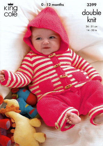 Baby Set in King Cole DK (3399)-Deramores