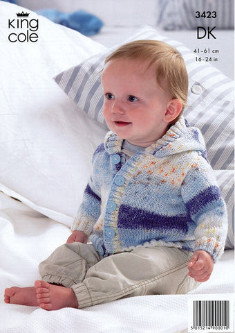 Cardigans & Hat in King Cole Splash DK (3423)-Deramores