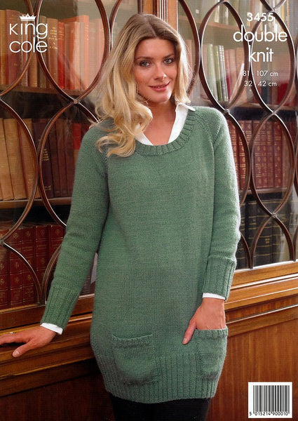 Cardigan and Sweater in King Cole Baby Alpaca DK (3455)-Deramores