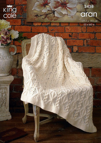 Afghan in King Cole Aran (3458)-Deramores