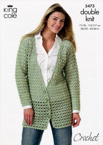 Crocheted Jackets in King Cole DK (3473)-Deramores