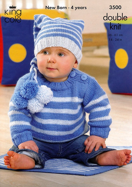 Sweater, Jacket, Hat and Blanket in King Cole DK (3500)