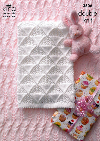 Cot Blanket in King Cole DK with Free Pattern (3506)-Deramores