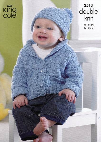 Jacket, Hat and Blanket in King Cole Cottonsoft DK (3513)-Deramores