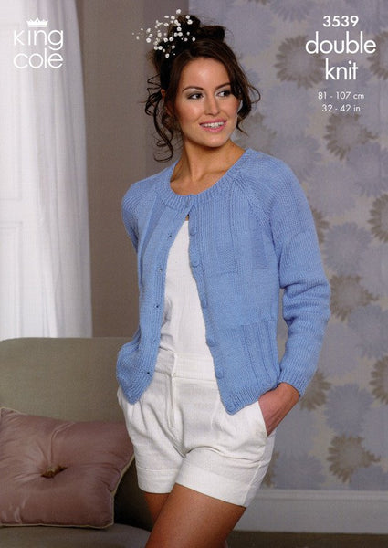 Cardigan and Sweater in King Cole Cottonsoft DK (3539)-Deramores