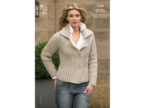Jacket and Sweater in King Cole Fashion Aran (3545)