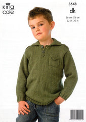 Boy's Jacket and Sweater in King Cole DK (3548)