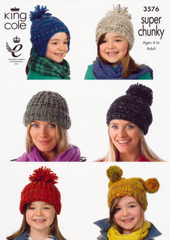 Hats in King Cole Gypsy Super Chunky (3576)-Deramores