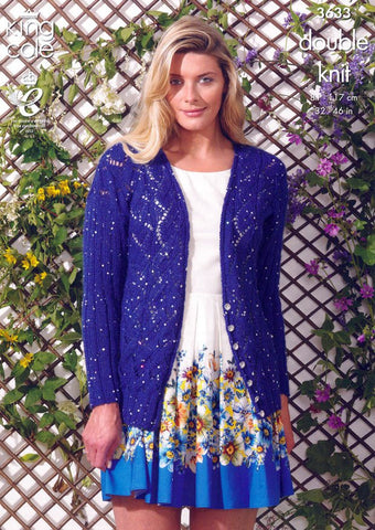 Cardigan and Sweater in King Cole Galaxy DK (3633)-Deramores