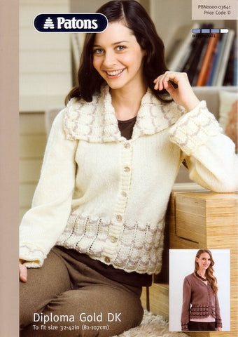 Lace Edged Jacket and Cardigan in Patons Diploma Gold DK (3641)-Deramores