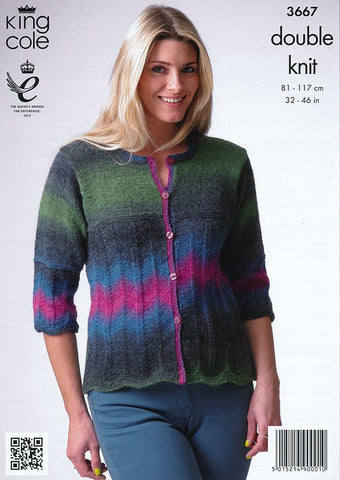 Sweater and Cardigan in King Cole Riot DK (3667)