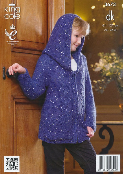 Hoodie and Sweater in King Cole Galaxy DK (3673)-Deramores