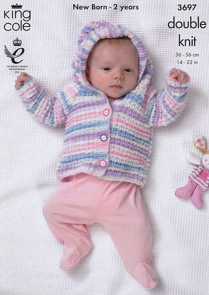 Blanket, Jacket and Cardigan in King Cole DK (3697)-Deramores