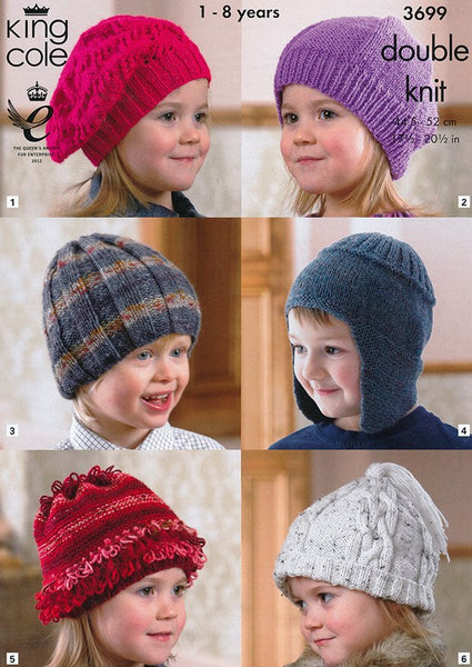 Hats in King Cole DK (3699)-Deramores