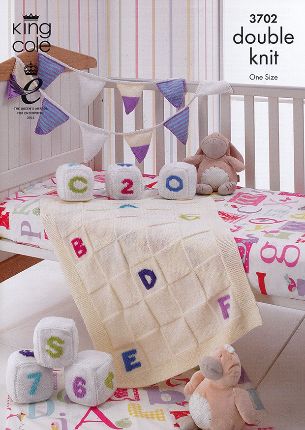 Blocks Bunting and Blanket in King Cole DK (3702)