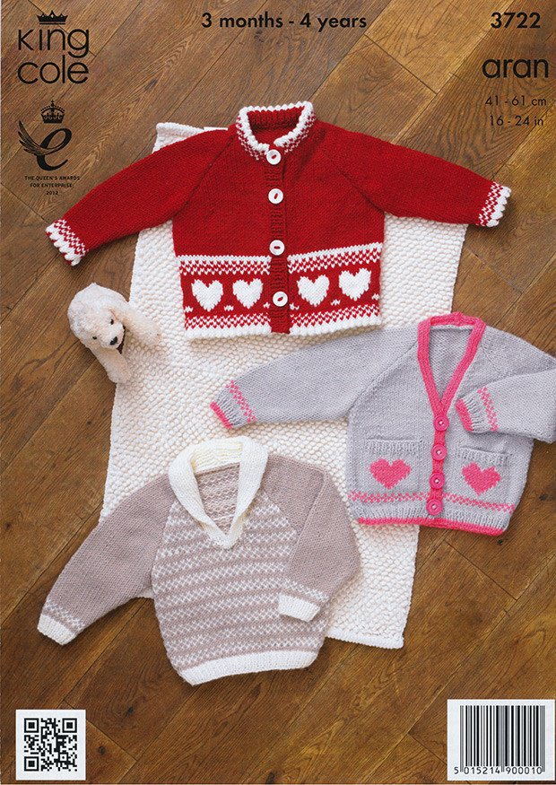 Jacket, Cardigan and Sweater in King Cole Comfort Aran (3722)-Deramores
