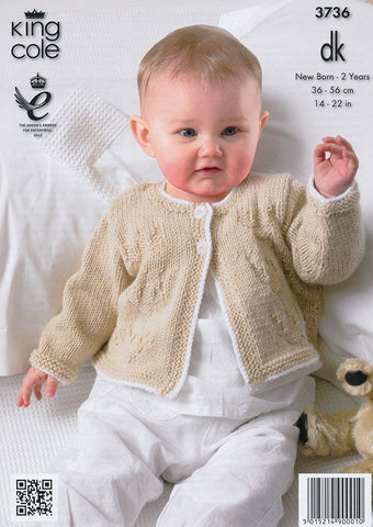 Dress and Short Cardigan in King Cole Comfort Baby DK (3736)-Deramores