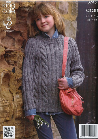 Cape and Sweater in King Cole Fashion Aran (3745)-Deramores
