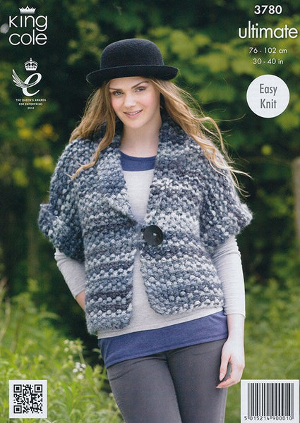 Ladys Waistcoat and Jacket In King Cole Ultimate (3780)-Deramores