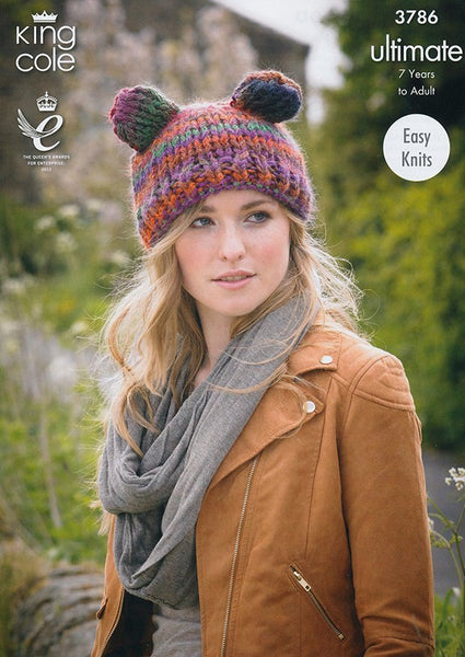 Hats and Snood In King Cole Ultimate (3786)-Deramores