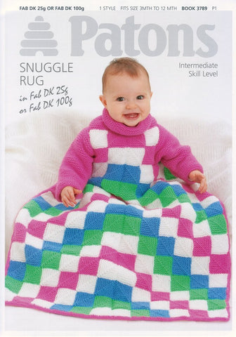 Snuggle Rug in Patons Fab DK (3789)