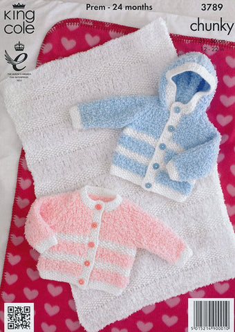 Jackets and Blanket in King Cole Cuddles with Chunky (3789)-Deramores