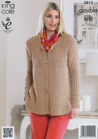 Cardigans In King Cole DK (3813)-Deramores
