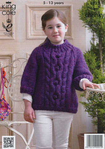 Cape and Sweater in King Cole Super Chunky (3823)-Deramores