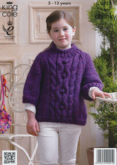 Cape and Sweater in King Cole Super Chunky (3823)