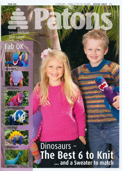 Dinosaurs and Sweaters in Fab DK by Patons (3847)