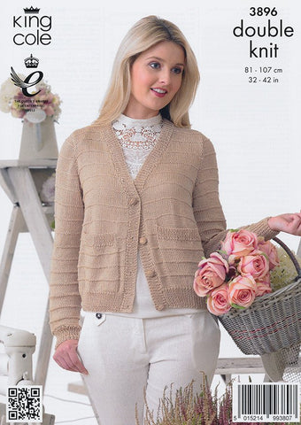 Cardigans in King Cole Giza Cotton DK (3896)-Deramores