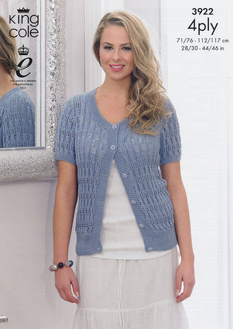 Waistcoat and Cardigan in King Cole Bamboo 4Ply (3922)