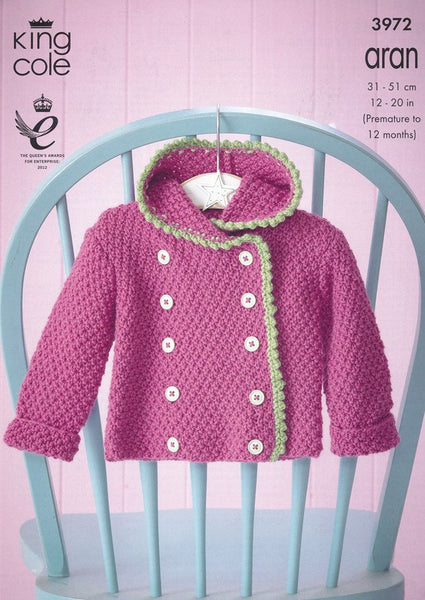Baby Set in King Cole Comfort Aran (3972)-Deramores