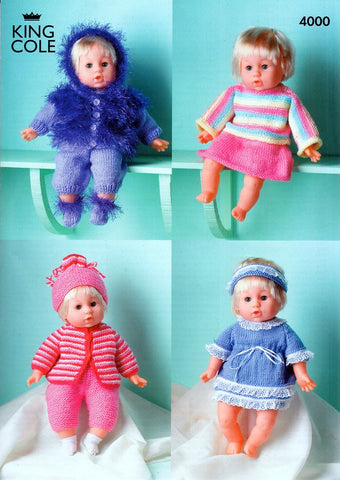 Dolls Clothes in King Cole Yarns (4000)-Deramores