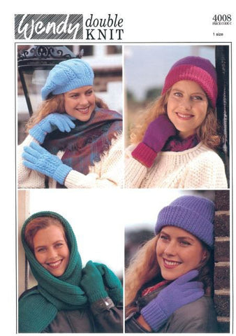Ladies Hat, Gloves and Mitts (4008) Digital Version-Deramores