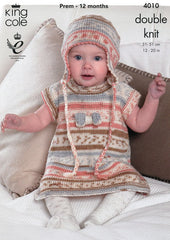 Baby Set in King Cole Cherish DK (4010)