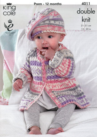 Baby Set in King Cole Cherish DK (4011)-Deramores