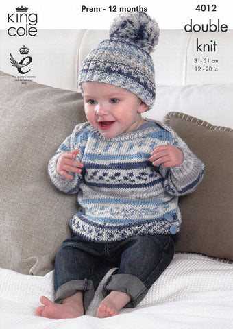 Baby Set in King Cole Cherish DK (4012)-Deramores