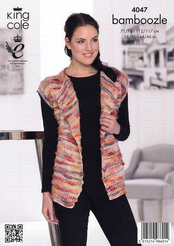 Jacket and Waistcoat in King Cole Bamboozle (4047)-Deramores